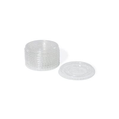 Couvercle jetable plat pour verre 10 oz