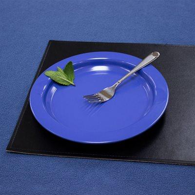 """Assiette à rebord (9""""  /  bleu foncé)"""