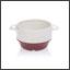 Ergogrip bowl ivory (burgundy base) colour