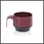 Tasse Ergogrip couleur bourgogne (base noire)