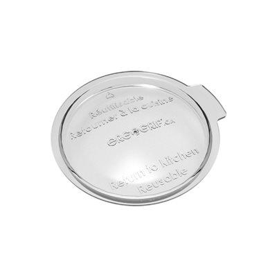 Small transparent reusable lid
